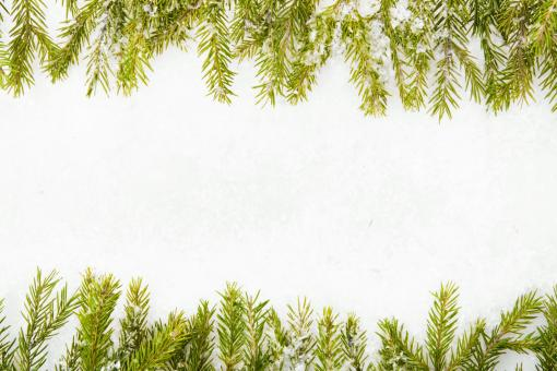 christmas frame with snow - Free Stock Photo