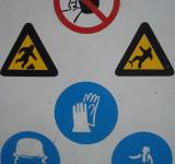 Free Photo - Construction warning signs