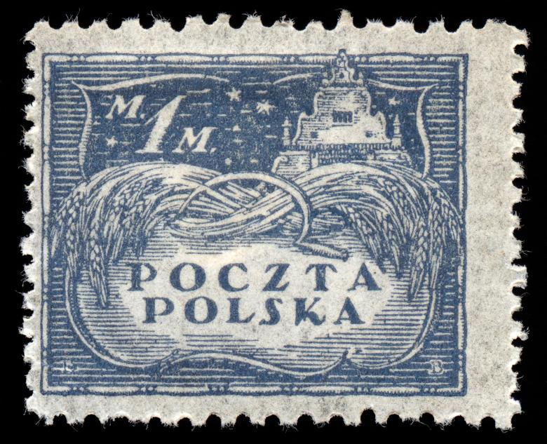 Free Stock Photo of Blue Agricultural Stamp Created by Nicolas Raymond