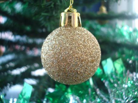 Golden Christmas ball - Free Stock Photo