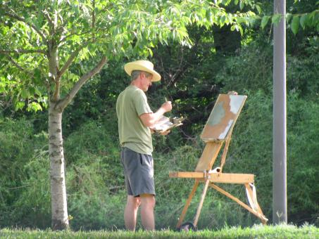 Artist Painting Landscape - Free Stock Photo