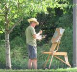 Free Photo - Artist Painting Landscape