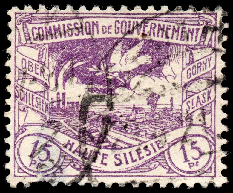 Free Stock Photo of Purple Coal Mine and Pigeon Stamp Created by Nicolas Raymond