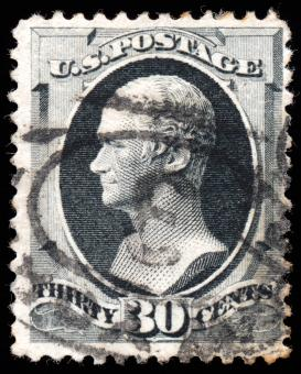 Gray Alexander Hamilton Stamp - Free Stock Photo
