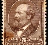 Free Photo - Brown James Garfield Stamp
