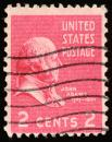 Free Photo - Pink John Adams Stamp