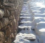 Free Photo - Snowy stone steps
