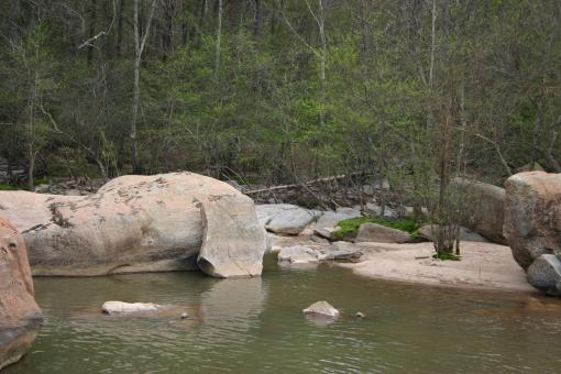 Huge rocks in the river - Free Stock Photo