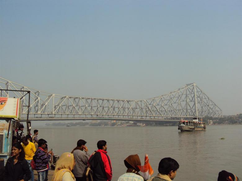 Free Stock Photo of Howrah bridge from Ganga Created by sukhdeep singh