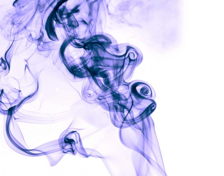 Free Stock Photo of Dark blue smoke on white Created by 2happy