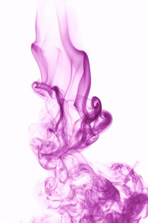 Free Stock Photo of Violet Smoke on White Created by 2happy