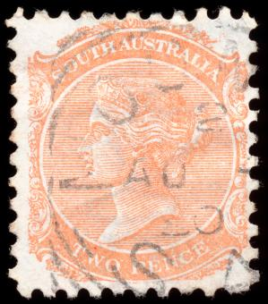 Orange Queen Victoria Stamp - Free Stock Photo