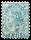 Free Photo - Cyan Queen Victoria Stamp