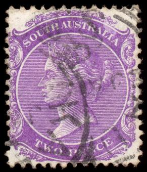 Violet Queen Victoria Stamp - Free Stock Photo