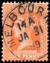 Free Photo - Orange Queen Victoria Stamp
