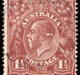 Free Photo - Brown King George V Stamp