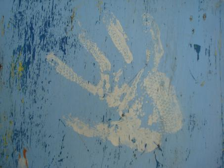 Paint hand print - Free Stock Photo