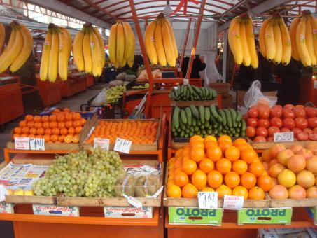 Fruit and vegetables market - Free Stock Photo