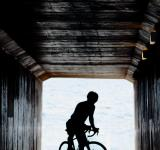 Free Photo - Cyclist in tunnel