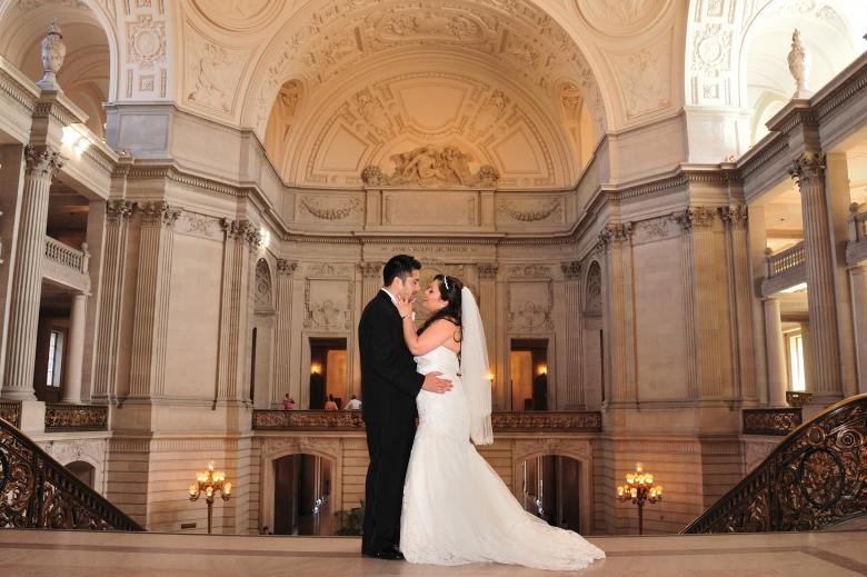 Free Stock Photo of Wedding at City hall Created by Mike Dubnoff