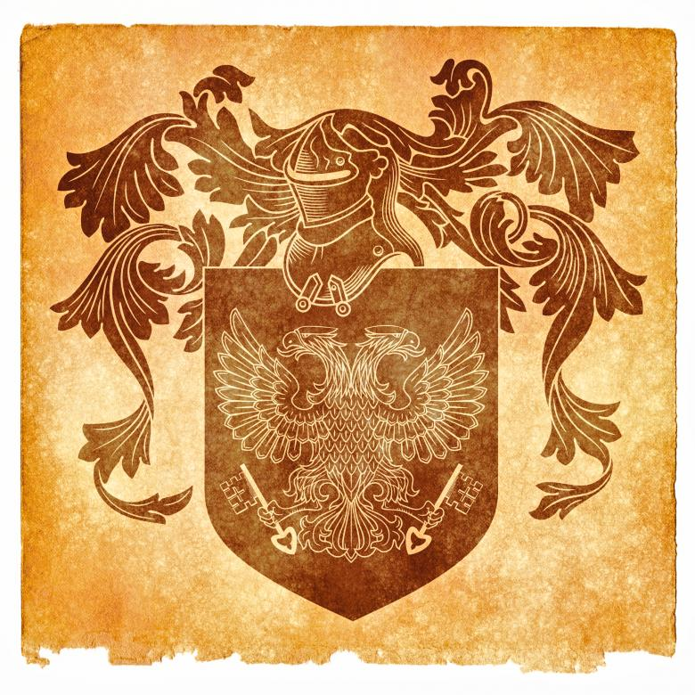 Free Stock Photo of Double-Headed Eagle Grunge Emblem, Sepia Created by Nicolas Raymond