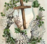 Free Photo - Victorian Greeting Card - Easter Cross