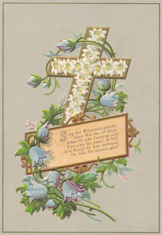 Free Stock Photo of Victorian Greeting Card - Easter Cross Created by Nicolas Raymond