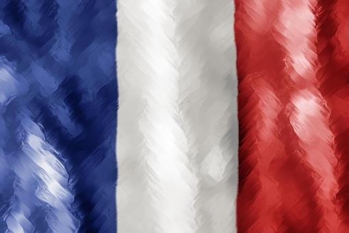 Abstract Paint Stroked Flag - France - Free Stock Photo