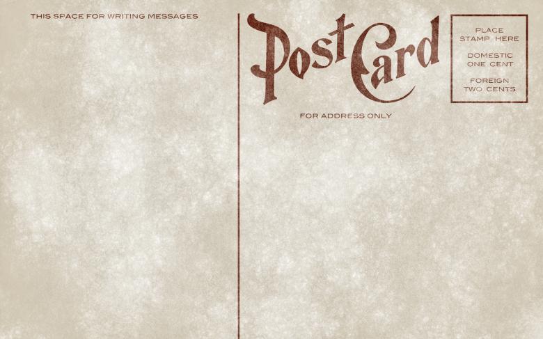 Grunge Textured Back Side Of A Blank Vintage Postcard