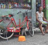 Free Photo - And Old Man with Old Red Bike