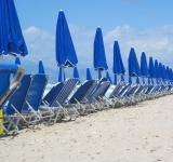 Free Photo - Sunbeds and umbrellas on the beach