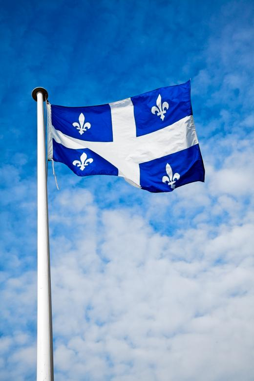 Free Stock Photo of Quebec Flag Created by Nicolas Raymond