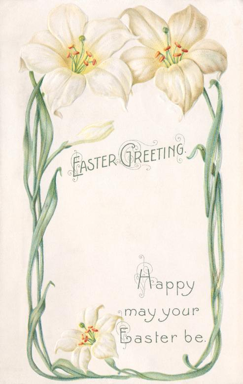 Free Stock Photo of Antique Easter Greeting Card Created by Nicolas Raymond