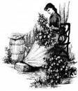 Free Photo - Victorian Woman Arranging Flowers