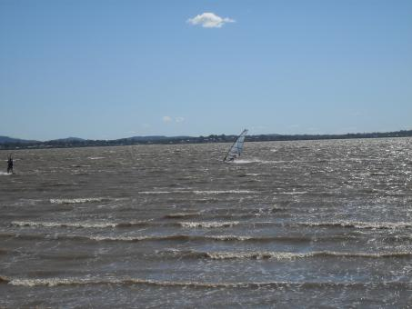 Very windy with windsurfer - Free Stock Photo