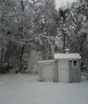 Shed in Snow - Free Stock Photo