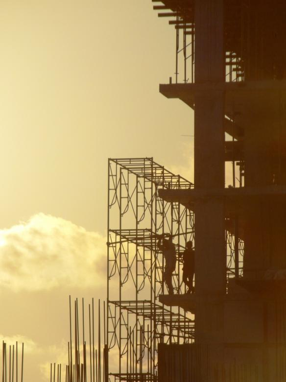 Free Stock Photo of Construction Silhouette Created by Ivan