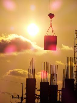 Construction Silhouette - Free Stock Photo