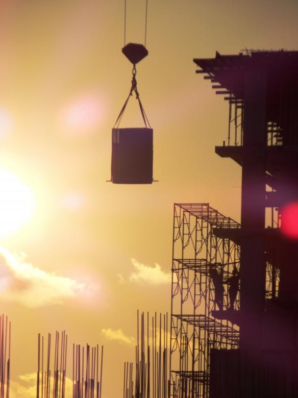 Free Stock Photo of Construction Silhouette Created by Ian L