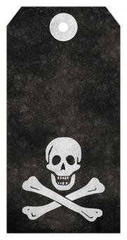 Jolly Roger Grunge Tag - Pirate Skull &a - Free Stock Photo