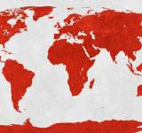 Free Photo - World Map - Red Velvet