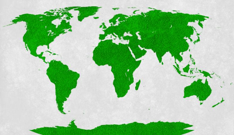 Free Stock Photo of World Map - Green Velvet Created by Nicolas Raymond