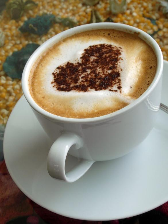 Free Stock Photo of Coffee Heart Art Created by Ian L