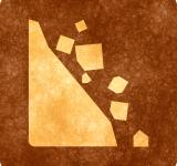 Free Photo - Sepia Grunge Sign - Falling Rocks