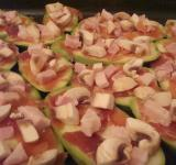 Free Photo - Zucchini, prosciutto, ham and mushrooms