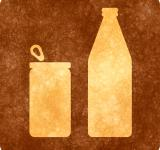 Free Photo - Sepia Grunge Sign - Can and Bottle