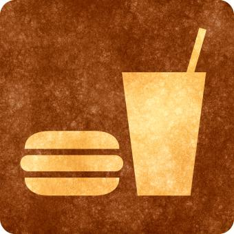 Sepia Grunge Sign - Snack Bar - Free Stock Photo