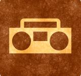 Free Photo - Sepia Grunge Sign - Radio Player