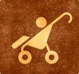 Free Photo - Sepia Grunge Sign - Baby Stroller