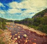 Free Photo - Cabot Trail Scenery - Retro Style